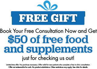 $50 of free food and supplements with your free consultation - limited time offer